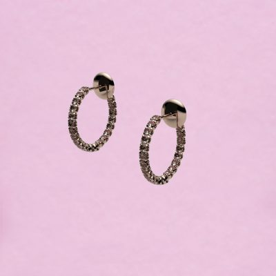 blossom hoop earrings – brown diamond and 18k yellow gold