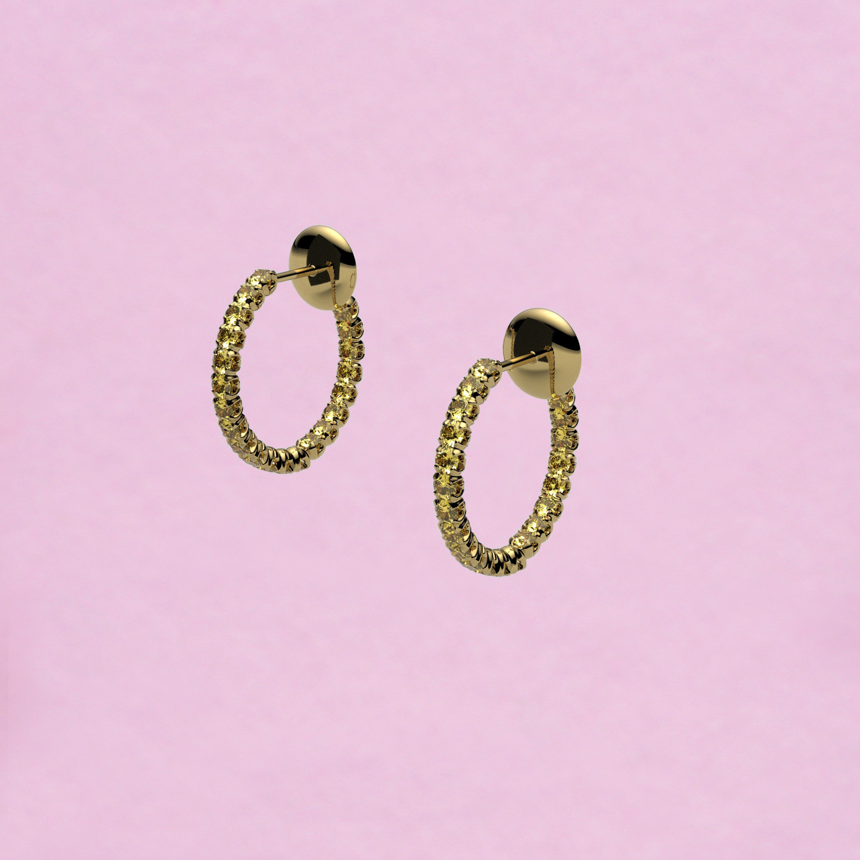 blossom hoop earrings – yellow sapphire and 18k yellow gold