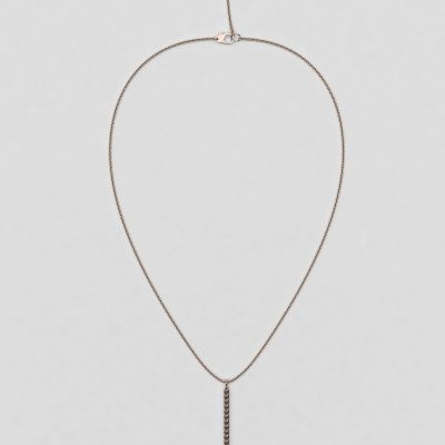 blossom necklace and long pendant  - brown diamond and 18k yellow gold