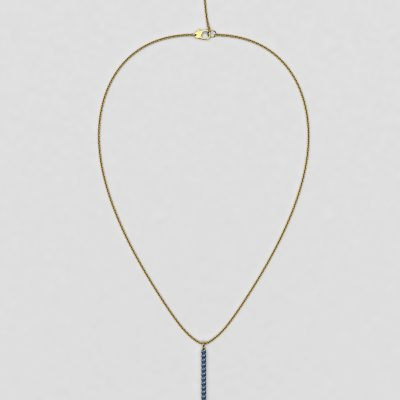 blossom necklace and long pendant - cornflower blue sapphire and 18k yellow gold