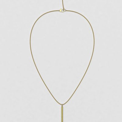 blossom necklace and long pendant  - yellow sapphire and 18k yellow gold