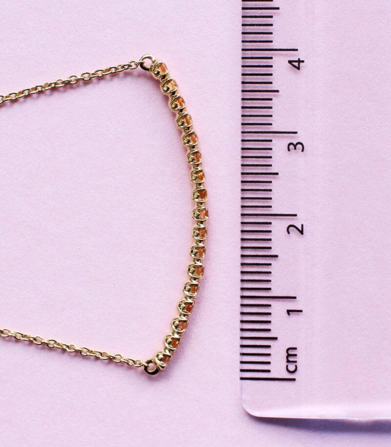 blossom bracelet – pink sapphire and 18k white gold