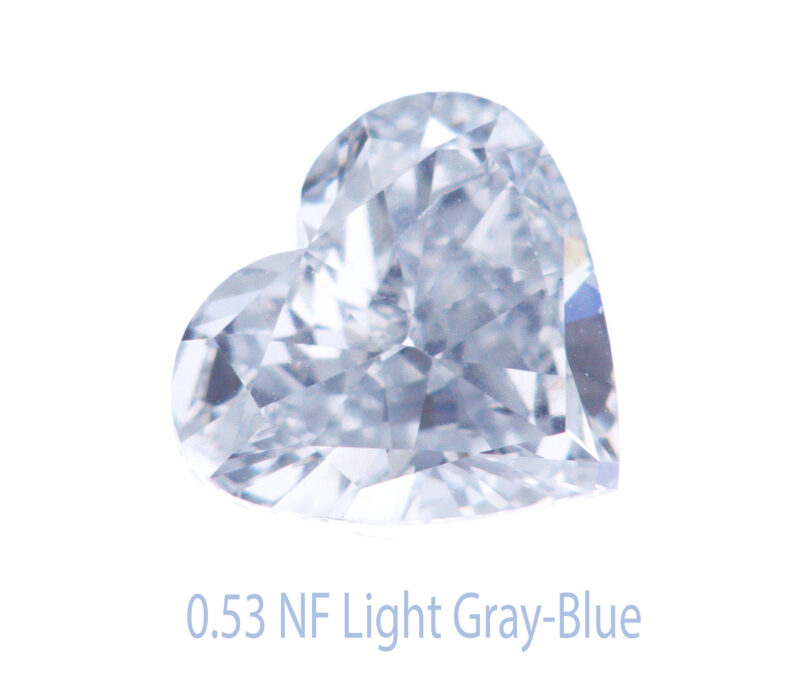 halo heart diamond ring in exquisite blue grey