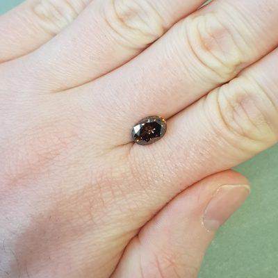 2.02 ct oval brown diamond