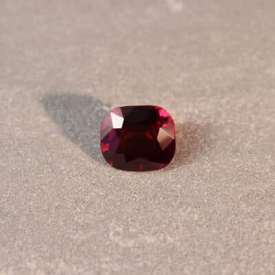 3.27 ct vivid red cushion ruby