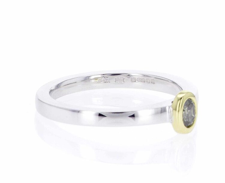 exquisite olive diamond stacking ring