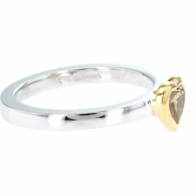 exquisite heart-shaped olive diamond stacking ring