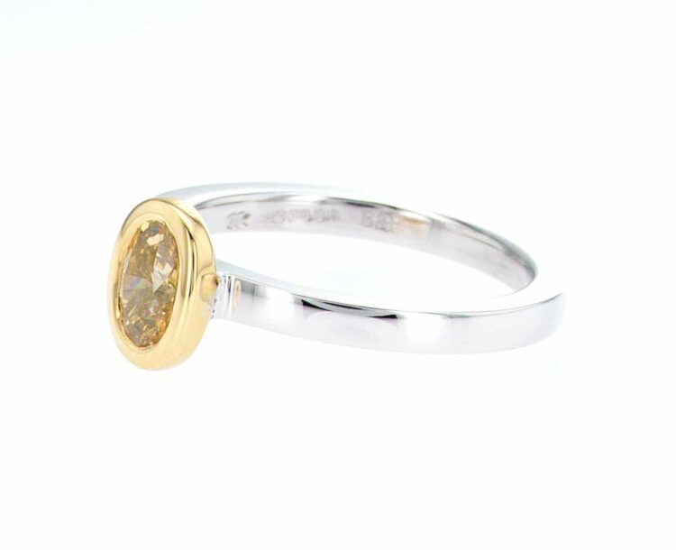 one-of-a-kind yellow diamond stacking ring