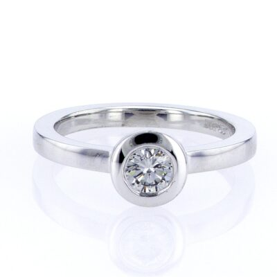 elegant grey diamond and white gold stacking ring