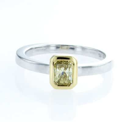 spectacular yellow diamond stacking ring