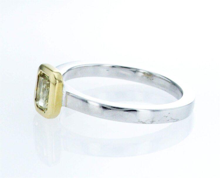 spectacular yellow diamond stacking ring