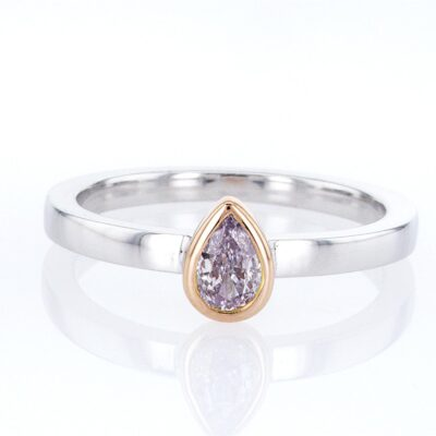 exceptional pink diamond stacking ring