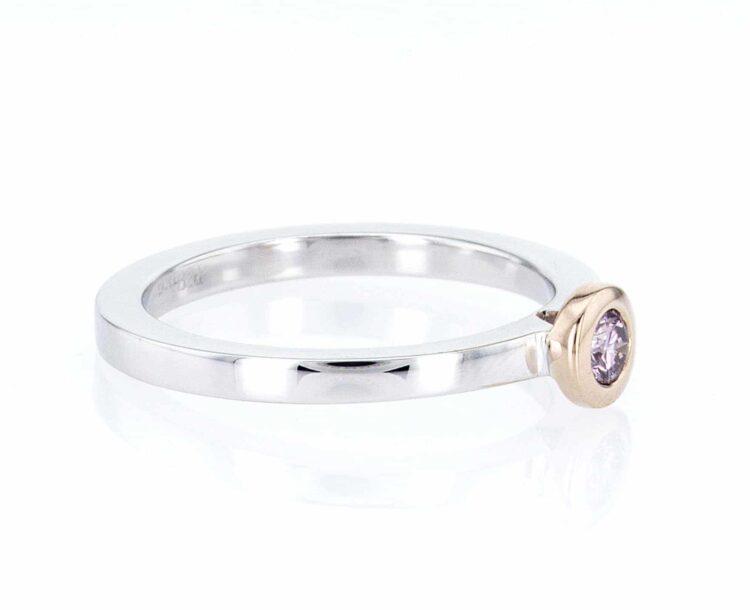 extraordinary pink diamond stacking ring