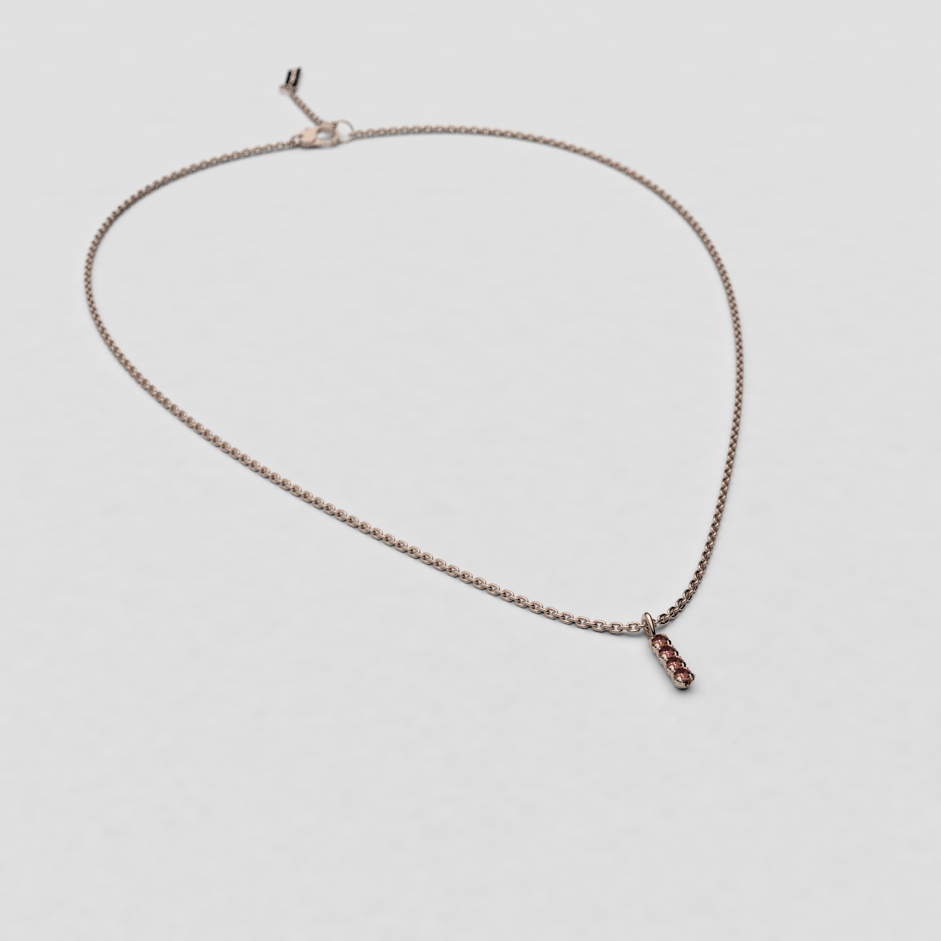 blossom necklace and short pendant  - brown diamond and 18k yellow gold
