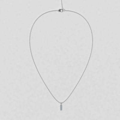 blossom necklace and short pendant  - white diamond and 18k white gold