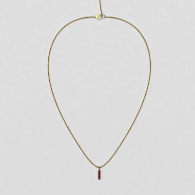 blossom necklace and short pendant  - ruby and 18k yellow gold
