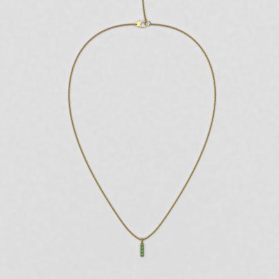 blossom necklace and short pendant  - tsavorite garnet and 18k yellow gold