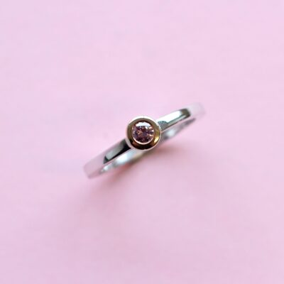 extraordinary pink diamond stacking ring