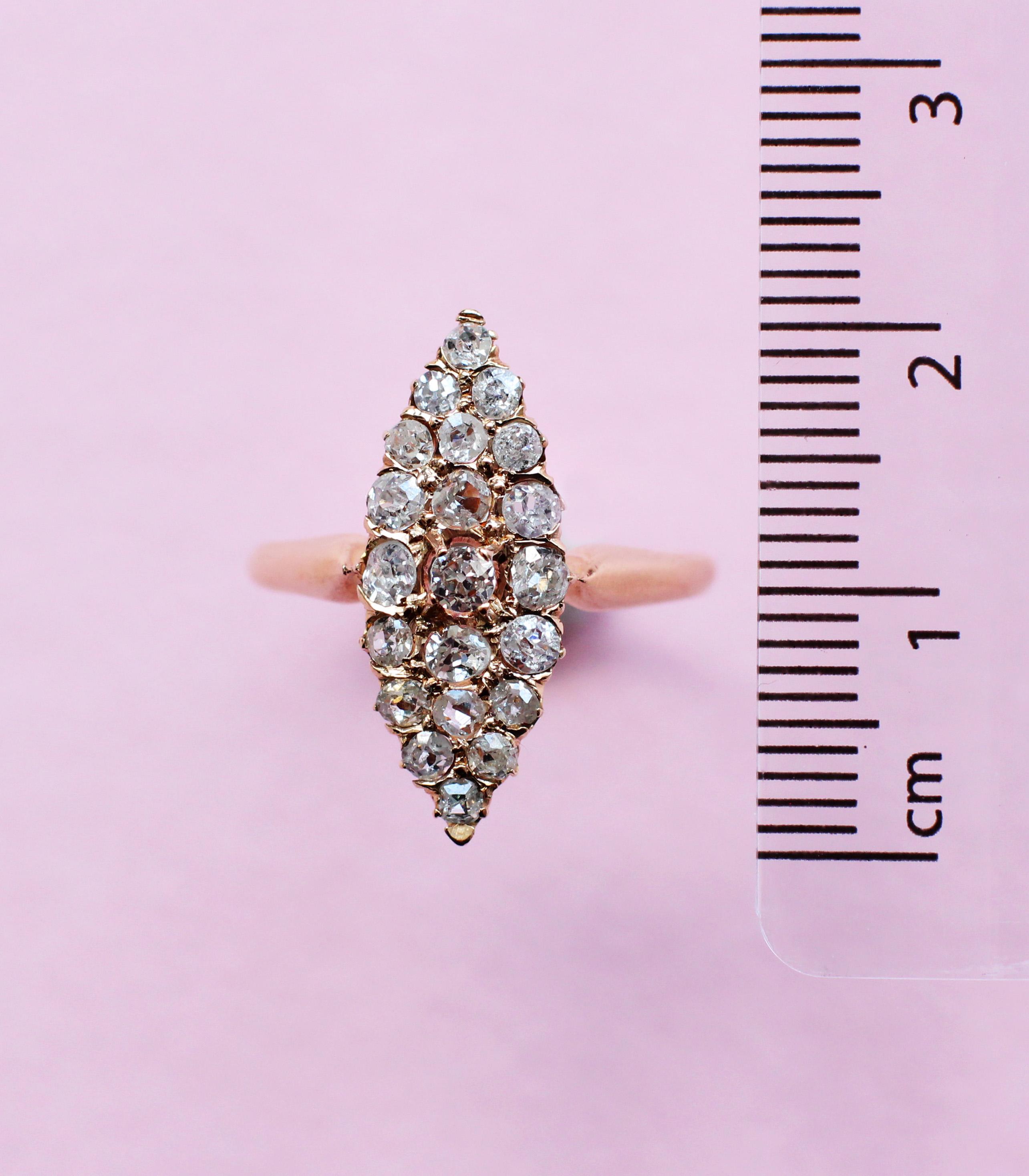 white diamond cluster navette ring
