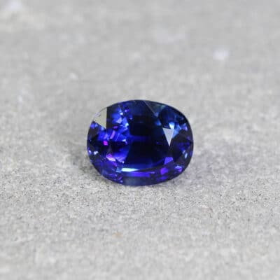 3.21 ct untreated blue oval sapphire