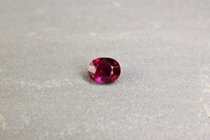 4.10 ct vivid red oval ruby