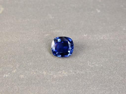 7.14 ct blue cushion sapphire