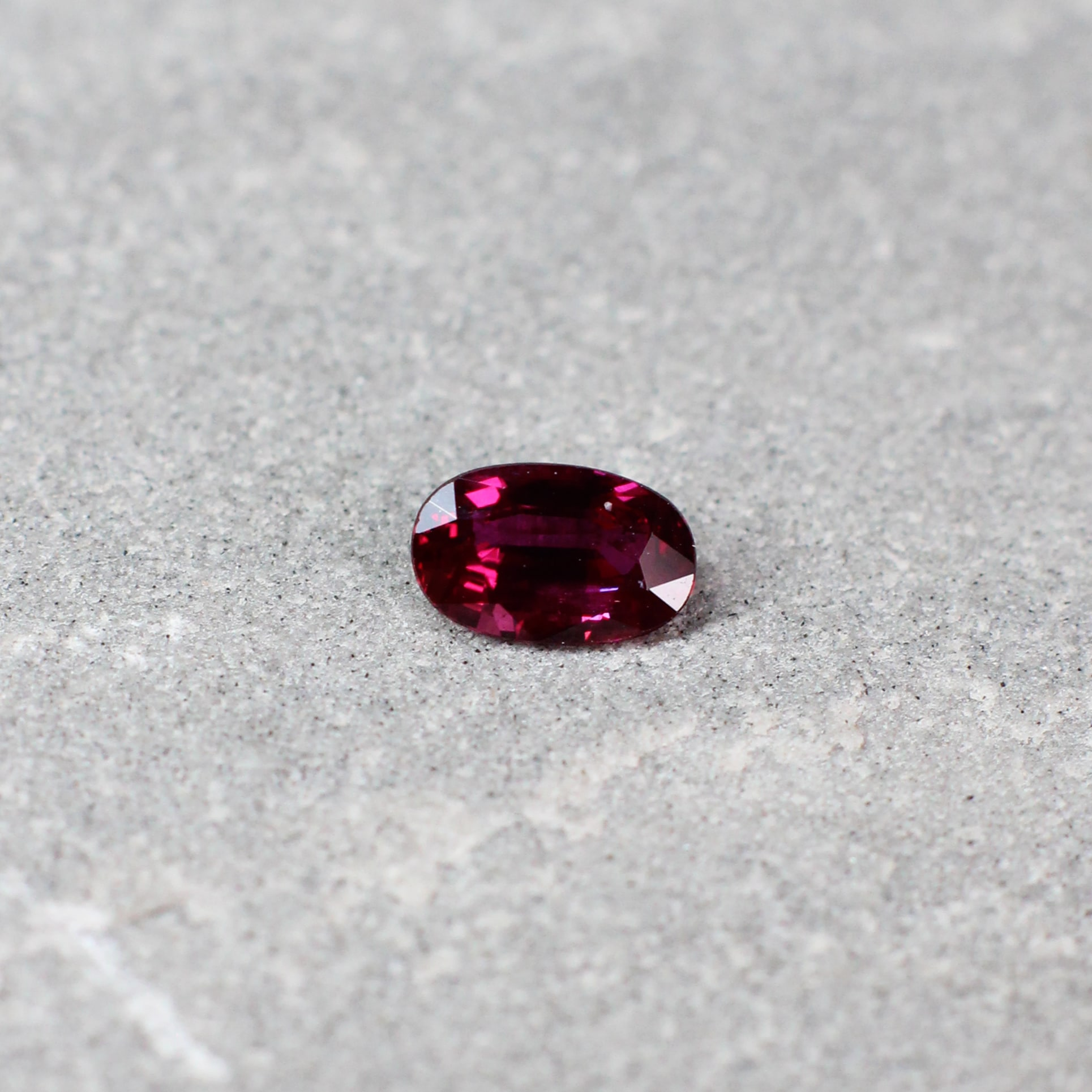 0.51 ct red cushion ruby