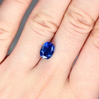 3.13 ct cushion blue sapphire