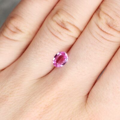 0.81 ct pink oval sapphire