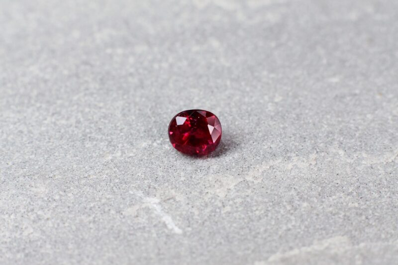 0.85 ct red oval ruby