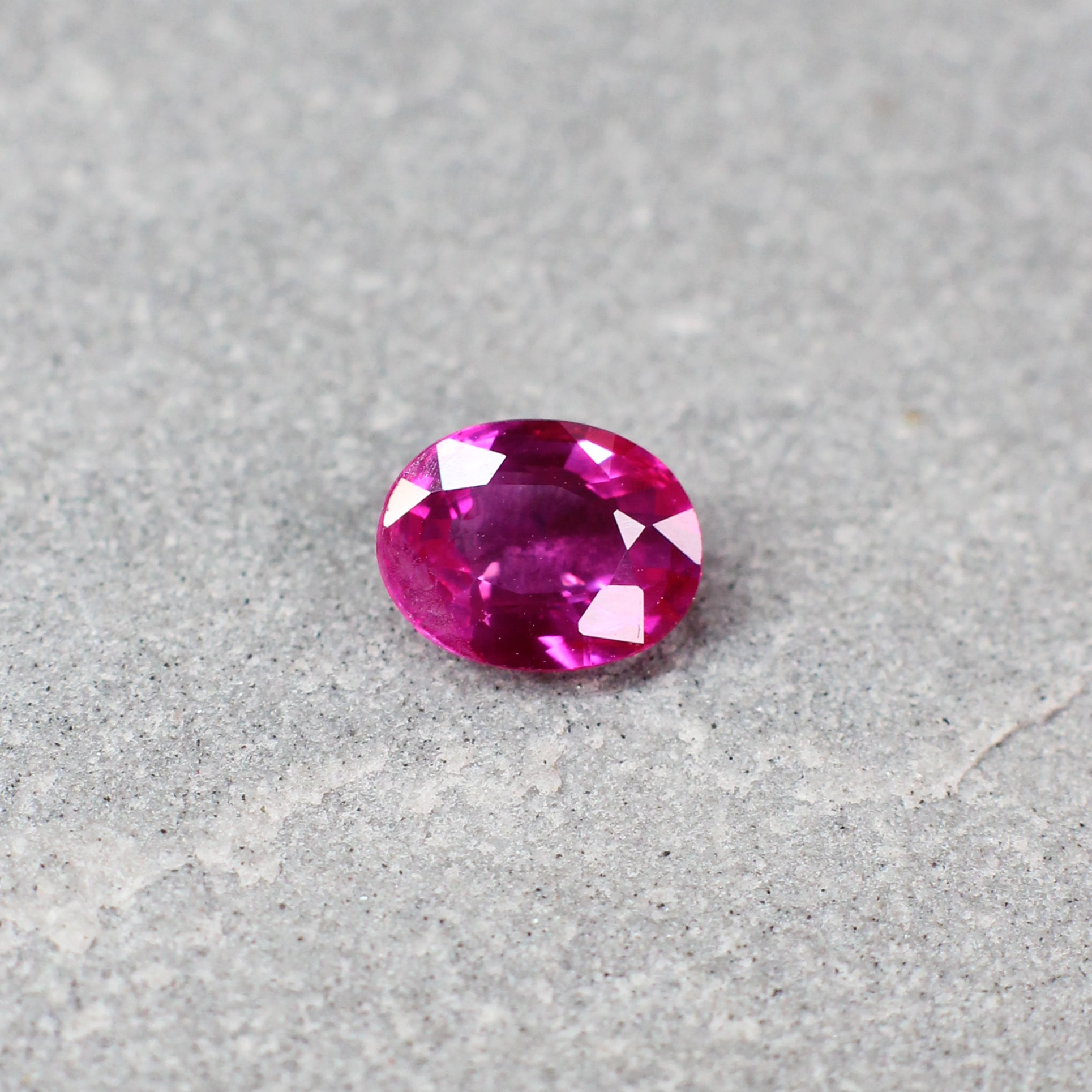 0.86 ct red oval ruby