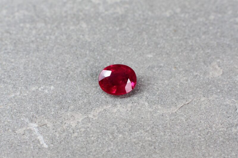 0.90 ct red oval ruby