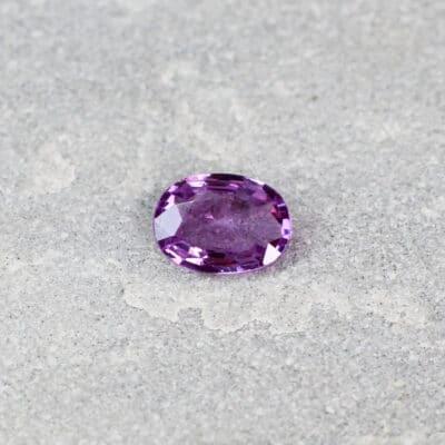 0.92 ct purple oval sapphire