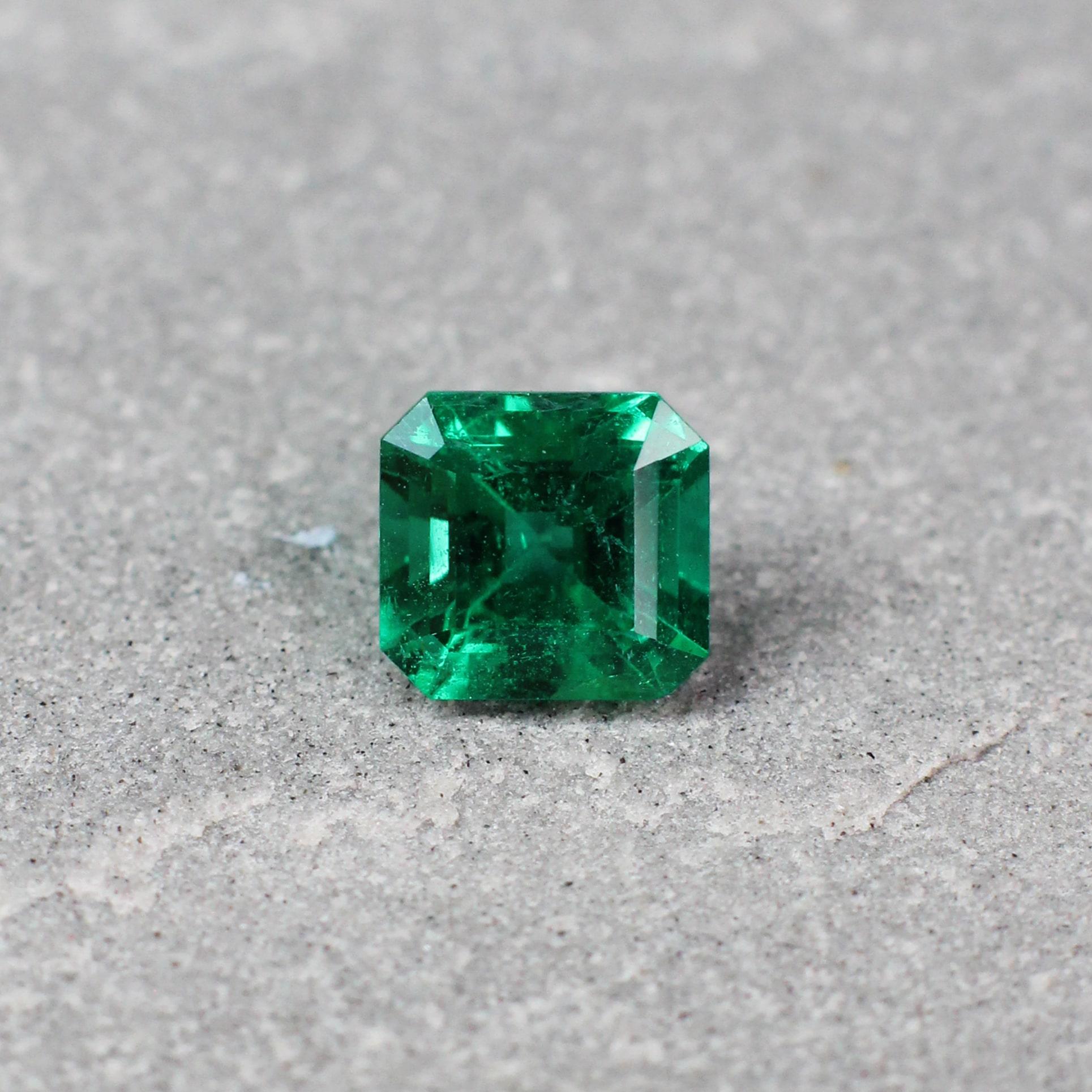 0.95 ct emerald cut green emerald