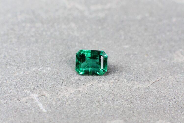 0.96 ct emerald cut green emerald