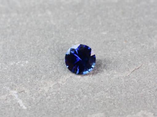 1.01 ct blue round sapphire