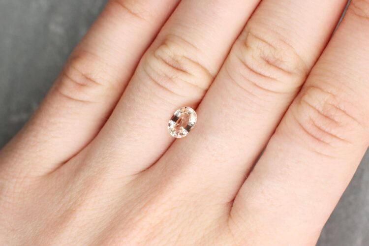 1.01 ct pink oval sapphire