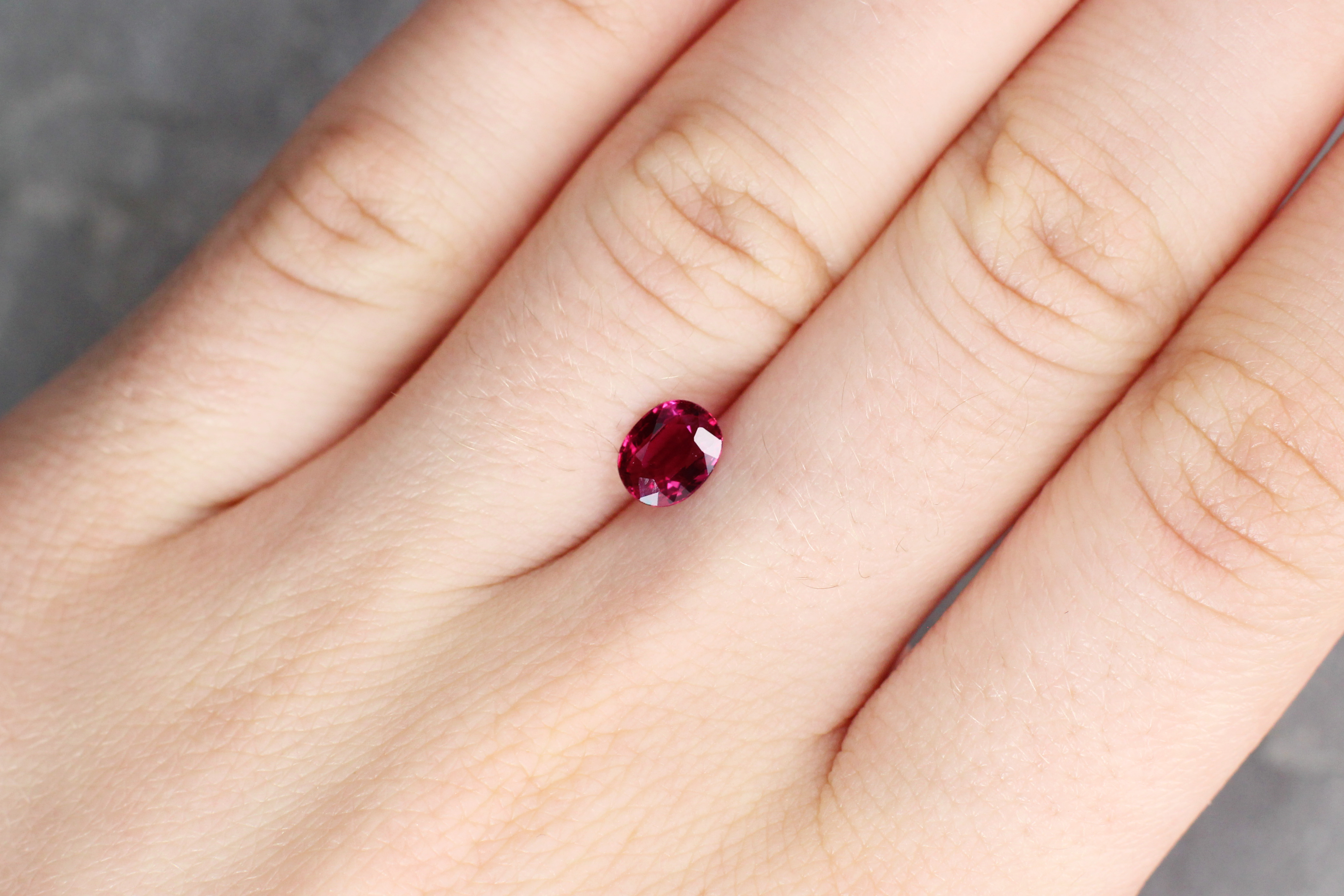 1.03 ct red oval ruby