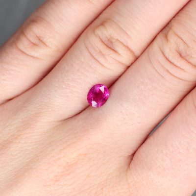1.04 ct red oval ruby