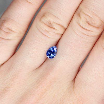 1.08 ct blue pear shape sapphire