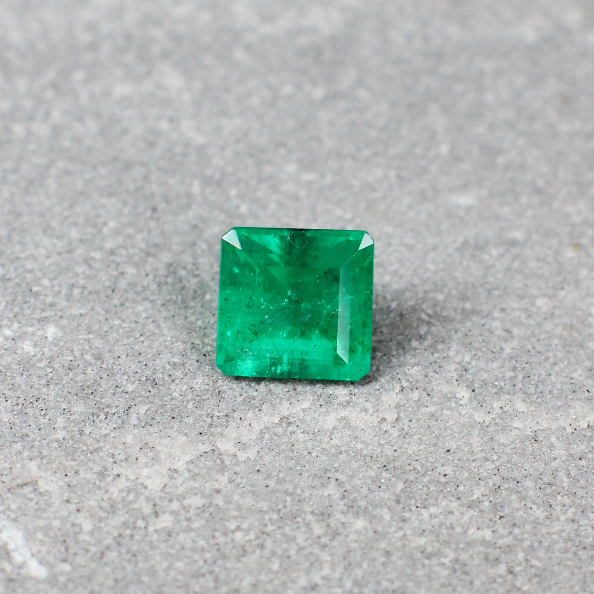 1.08 ct emerald cut green emerald