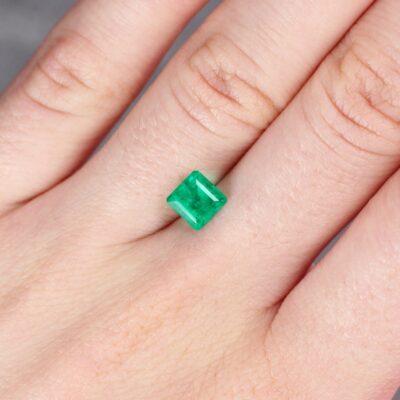 1.08 ct emerald cut green emerald