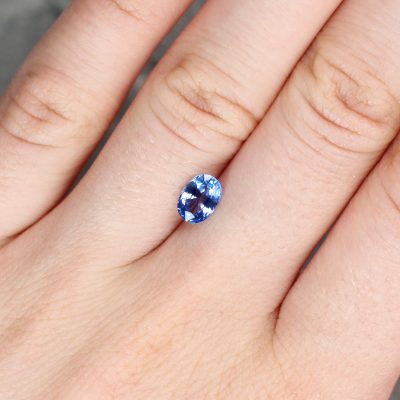 1.09 ct blue oval sapphire