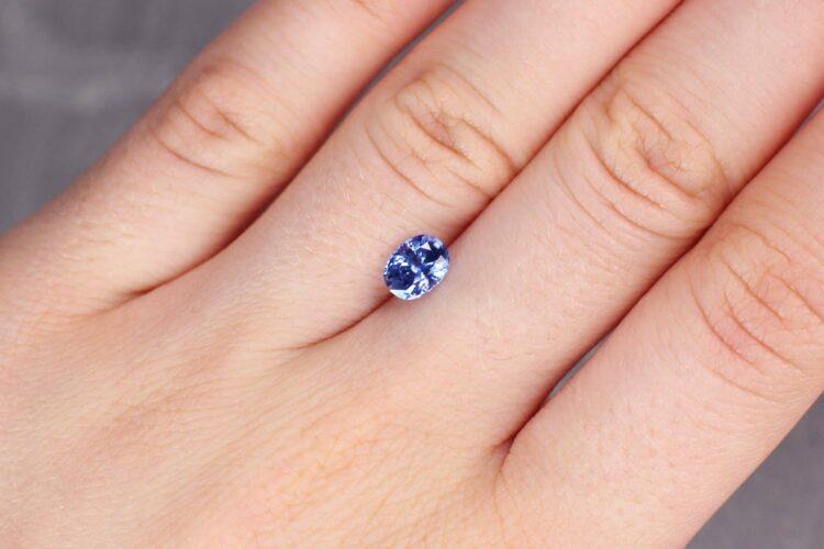 1.10 ct blue oval sapphire