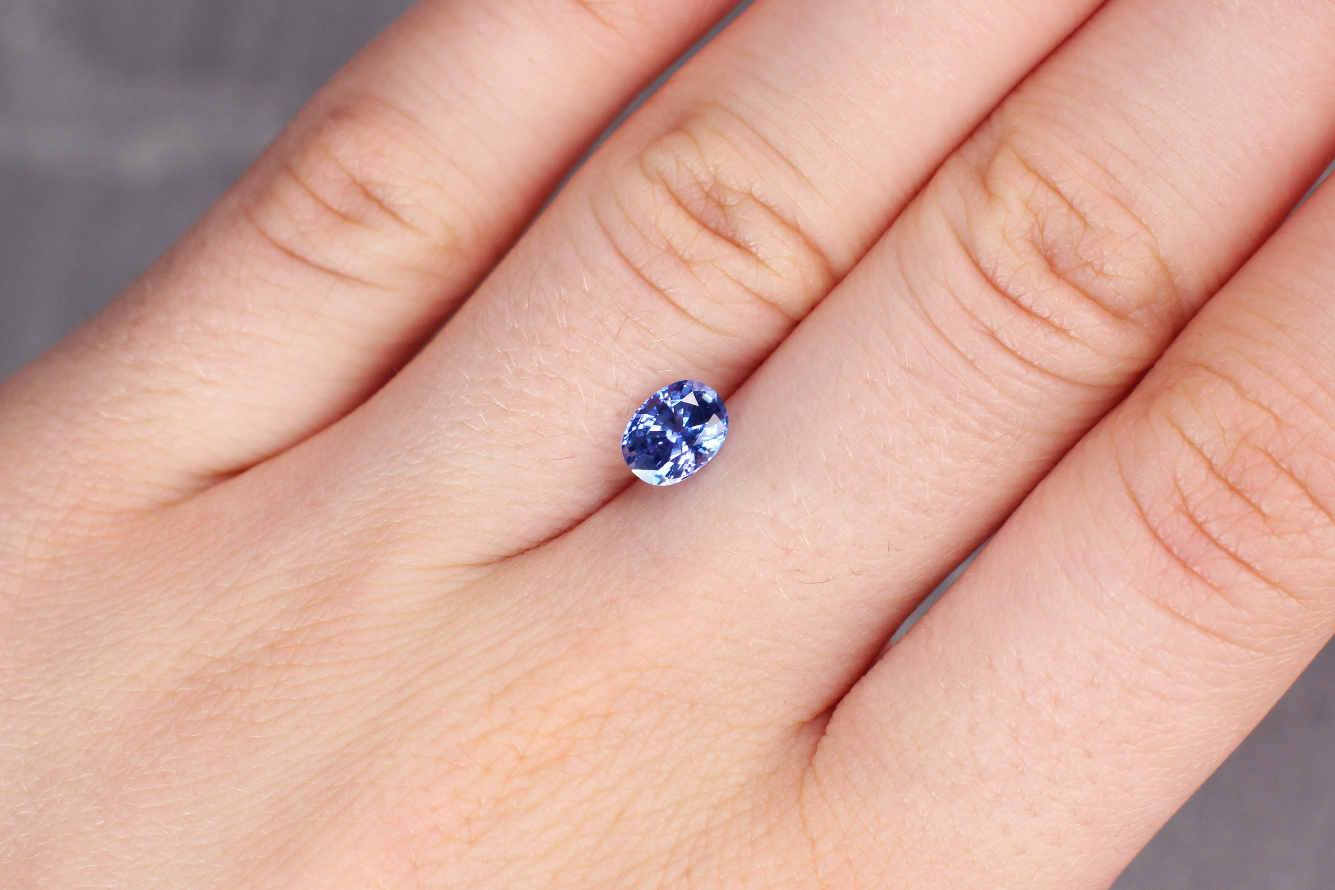 1.10 ct blue oval sapphire