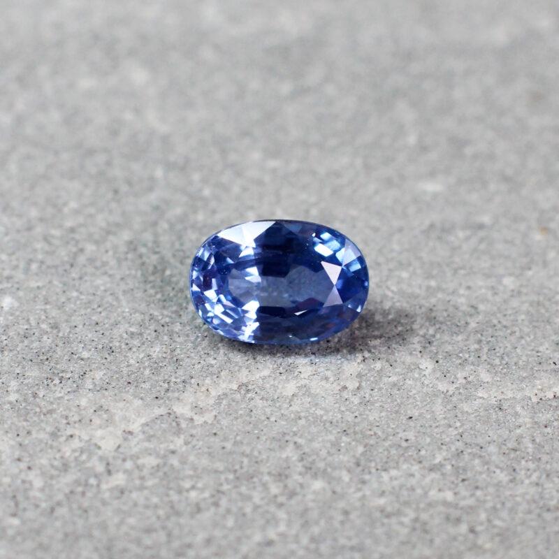 1.13 ct blue oval sapphire