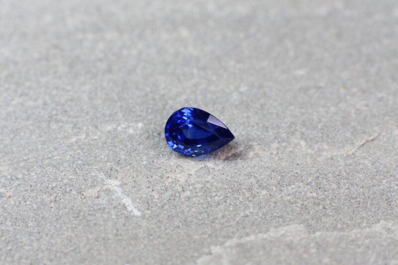 1.13 ct blue pear shape sapphire