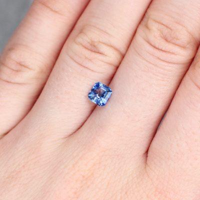 1.13 ct blue square sapphire