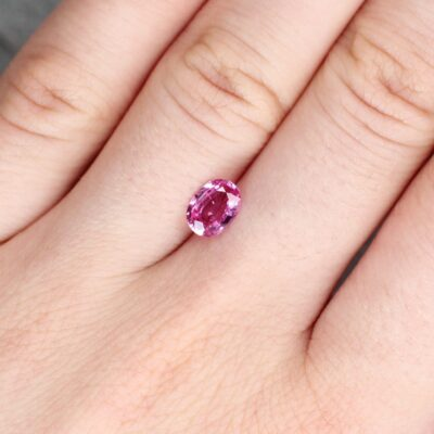 1.15 ct pink oval sapphire