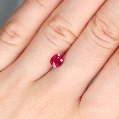 1.17 ct red oval ruby